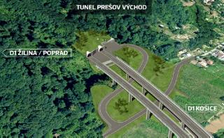 Východní portál tunelu Prešov, vizualizace