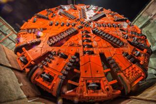 Obr. 6 Řezná hlava tunelovacího stroje Viktorie