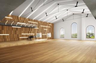 Vizualizace budoucího víceúčelového sálu