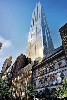Obr. 11 Nerealizovaný návrh Central Park Tower studia Foster + Partners z roku 2013 (zdroj: Extell)