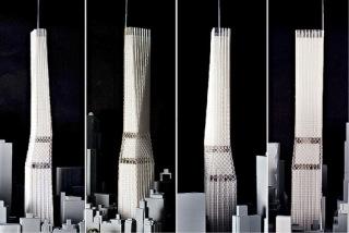Obr. 10 Původní návrhy tvaru Central Park Tower z roku 2012 (zdroj: SHoP Architects)