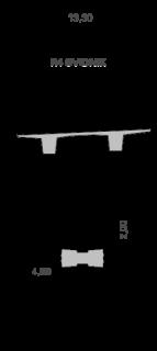 Obr. 11 Priečny rez mostného objektu 208-00