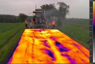 Obr. 8 Termogram z pokládky nízkoteplotní asfaltové směsi