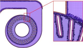 Obr. 5 Výpočetní síť numerické  úlohy