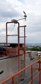 Obr. 1c Anemometr v úrovni cca 55 m