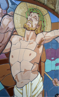 Obr. 18a XI. zastavení. Detail Krista