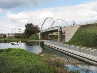 Stavba 001 – Silniční most na silnici III/24635 – Vrbno – jižní pohled (vizualizace)