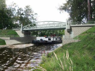 Stavba 003.A – Silniční most na místní komunikaci – Lužec nad Vltavou – jižní pohled (vizualizace)
