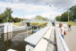 Stavba 003.C  –  Silniční  most  na  místní  komunikaci  Vraňany  –  východní  pohled (vizualizace)