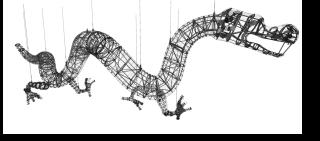 Obr. 03 Celkové schéma nosné konstrukce draka