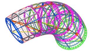 Obr. 09 3D model – základní díl konstrukce bez návazných komponent