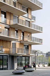 Krakauerstraße 19 – projekt skupinového bydlení, uliční pohled