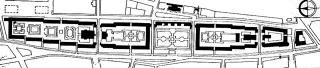Půdorys komplexu Karl-Marx-Hof na Heiligenstädter Straße