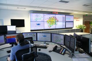 Obr. 01 Centrální dispečink Smart řízení provozu stokové sítě v reálném čase – Smart Sewer System (SWIM SSS)