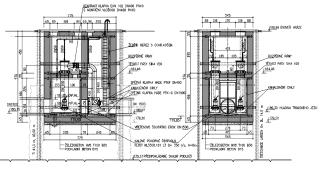 Obr. 04 Dvoukomorové provedení hradidlové komory a stabilní povodňové čerpací stanice