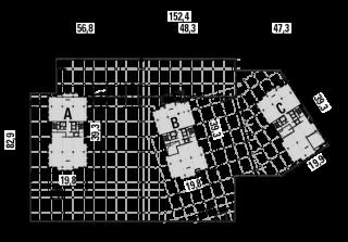 Obr. 04 Půdorys objektu v místě podzemních garáží