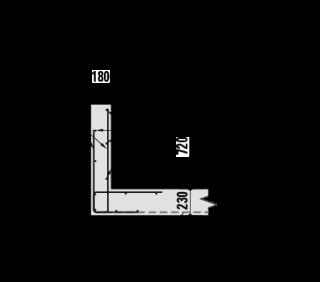 Obr. 14 Typické vyztužení parapetů
