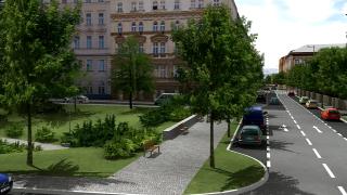 Obr. 04 Zklidnění Sokolské ulice – vizualizace