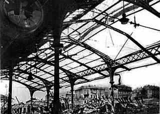 Historický přístřešek, duben 1945