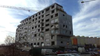 Obr. 05 Rezidenční projekt Zelená Libuš, pohled na hrubou stavbu