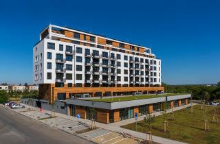 Obr. 14 Rezidenční projekt Zelená Libuš, pohled na budovu po dokončení