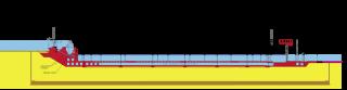 Obr. 03 Podélný řez konstrukcemi plavebních komor se základními rozměry (zdroj: VVB)