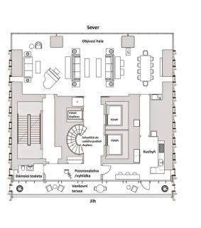 Obr. 23a Duplex v nejvyšší části věže, 75.NP (zdroj: JDS)