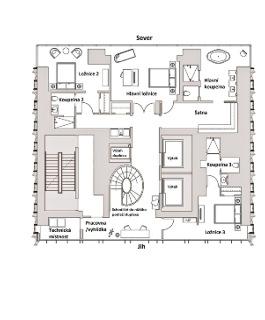 Obr. 23b Duplex v nejvyšší části věže, 76.NP (zdroj: JDS)