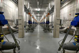 Čerpací stanice vratného kalu o výkonu 2400 l/s