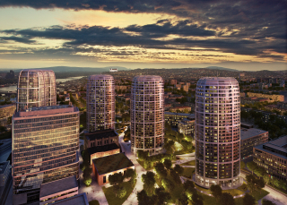 Komplex SKY PARK spoločnosti Penta Investments v Bratislave – vizualizácia