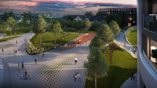 Súčasťou parku sú aj priestory pre rôzne športové aktivity a detské ihriská