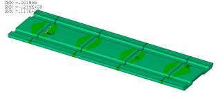 Obr. 09 a) Normálové namáhání segmentu