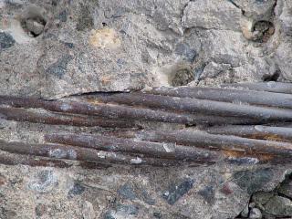 Obr. 18 Nosné kabely v roce 2006