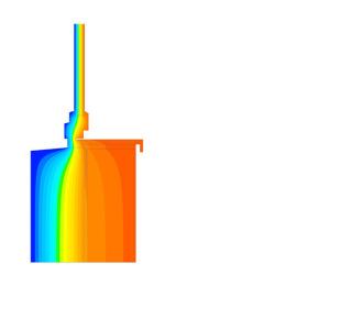 Obr. 2 Průběh teplot v místě plastové konzoly