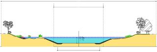 Možné řešení vodního koridoru D-O-L - příčný profil b