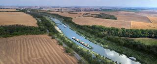 Přírodě blízké možné řešení vodního koridoru D-O-L (vizualizace)