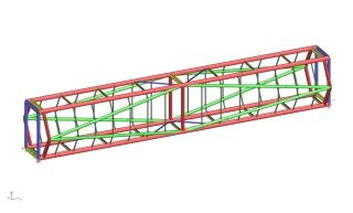 Obr. 05 Model lávky SO02