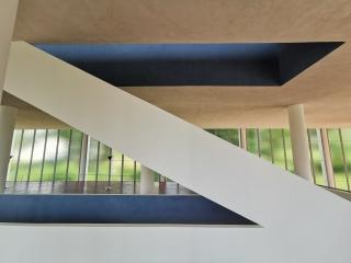 Boční pohled na nové schodiště