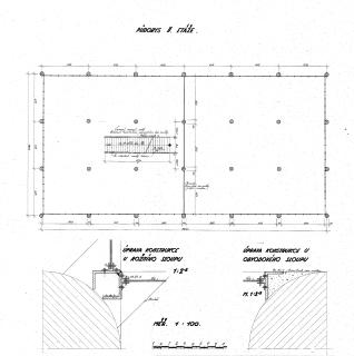 Výkres z původního projektu z roku 1933 – půdorys 2.NP