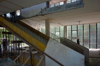 Budování nového schodiště
