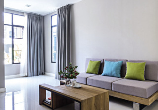 Obr. 1 Finální realizace podlahy obývacího pokoje – podklad dlažby