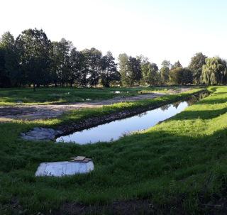 Pohled na hotový povodňový park č. 1