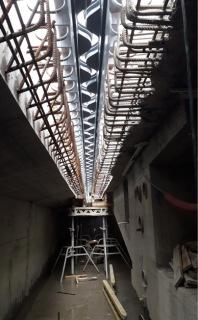 Mostní dilatační závěr po osazení