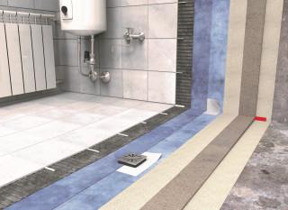 Obr. 2 Vzorová skladba technické místnosti/koupelny