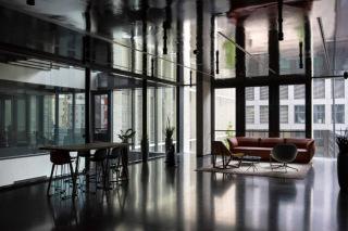 Interiér recepce administrativní budovy Palmovka Open Park III