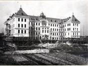 Výstavba chemického pavilonu na Žižkově ulici (1914 až 1920)