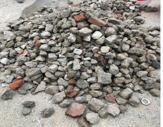 Obr. 10 Vzhled recyklovaného kameniva z Finské republiky frakce 0–200 mm