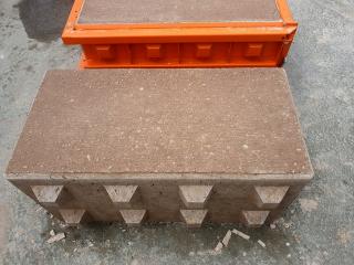 """Obr. 05 Vzhled """"legobloku"""" z recyklovaného betonu"""