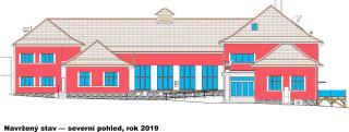 Stavební úpravy Sokolovny Černovice – navržený stav