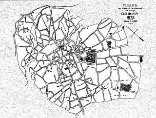 Bahno a zakřivené ulice Serdiky, v němž následně vznikly čisté a rovné bulváry o šířce nejméně 18 m